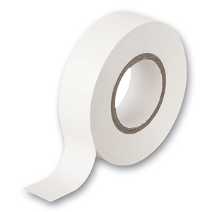 2 rolls x White PVC Electrical Tape 18 mm x 20m