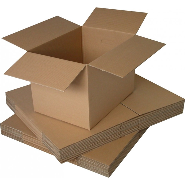 "5 x SINGLE Wall 12x9x12"" Cardboard Mailing Postal Boxes"
