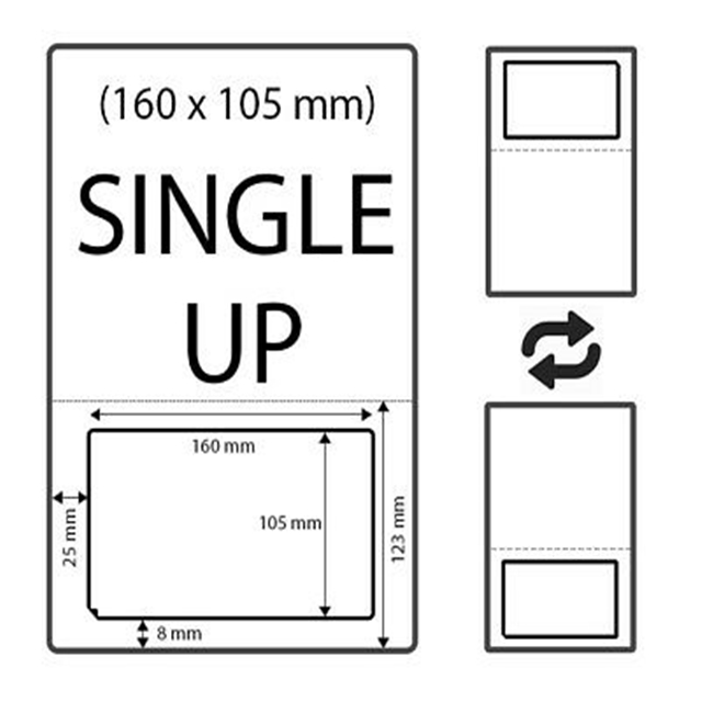 100 Royal Mail Click and Drop Labels Integrated S19 160mm x 105m