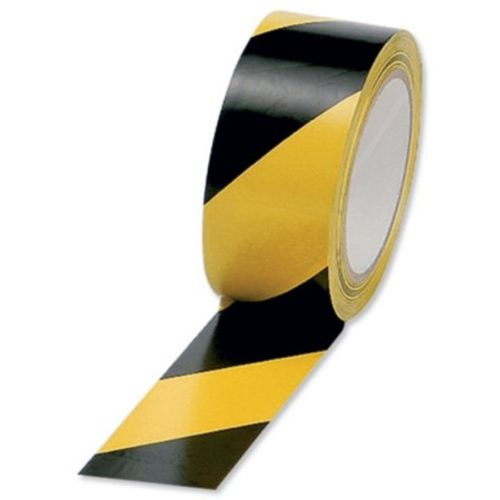 3 rolls x 33m Hazard Warning Black / Yellow - Tape 50mm 2""