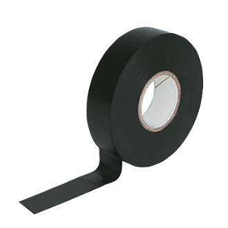5 rolls x Black PVC Electrical Tape 18 mm x 20m