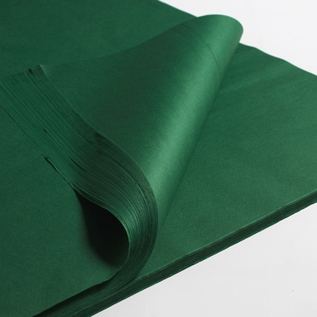 "250x Green Tissue paper 20x30"" - 500x750mm"