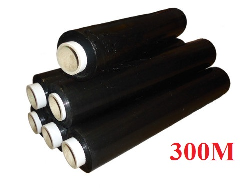 12x 400mm 300m Black Standart Core Pallet Strech Wrap