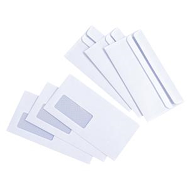 1000x DL 220x110mm Window Envelopes