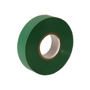 10 rolls x Green PVC Electrical Tape 18 mm x 20m