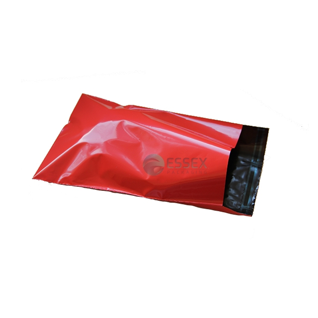 "1000x Red Mailing Bags 10x14"" - 250x350mm +Lip"