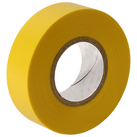 10 rolls x Yellow PVC Electrical Tape 18 mm x 20m